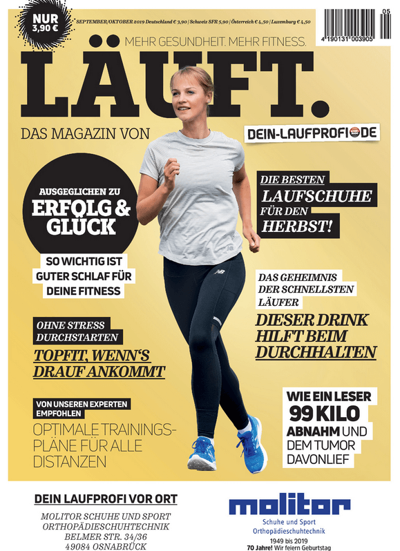 "Cover des E-Magazins ""Läuft"""